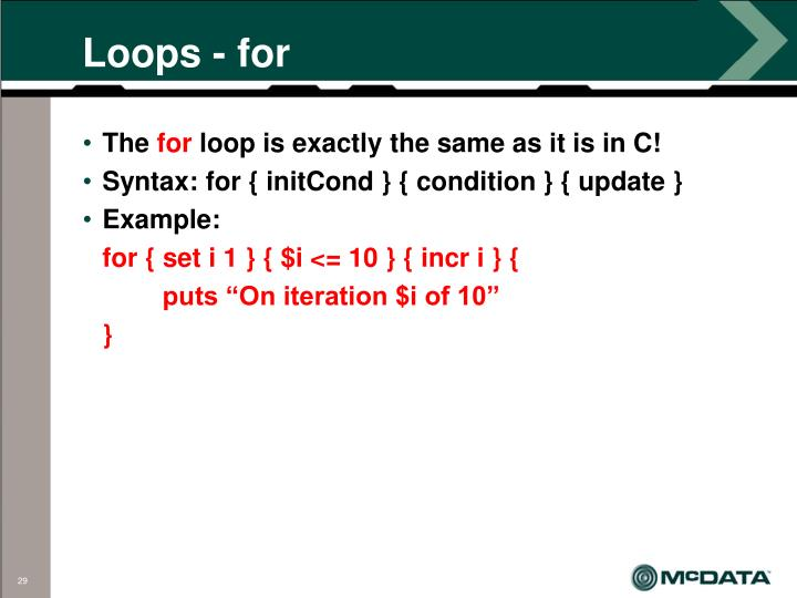 Loops - for