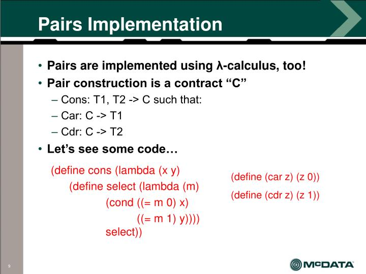 Pairs Implementation