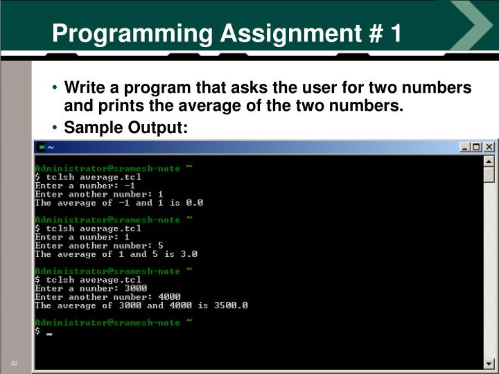 Programming Assignment # 1