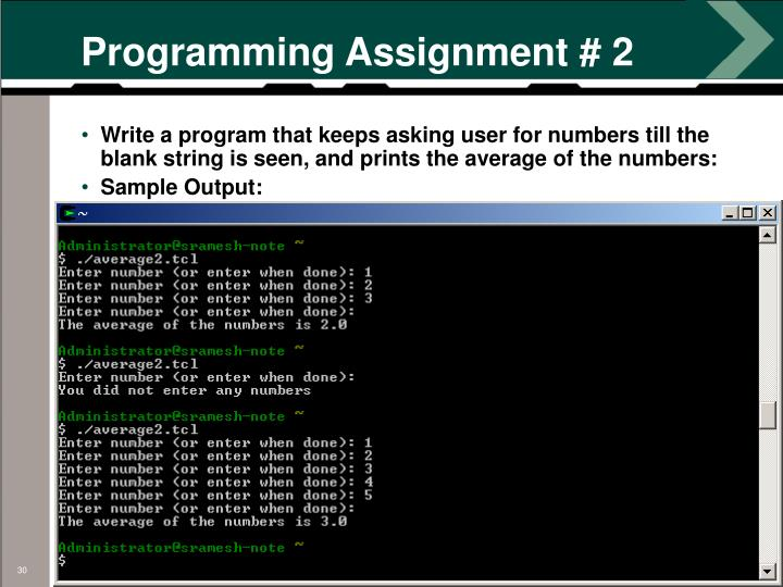 Programming Assignment # 2