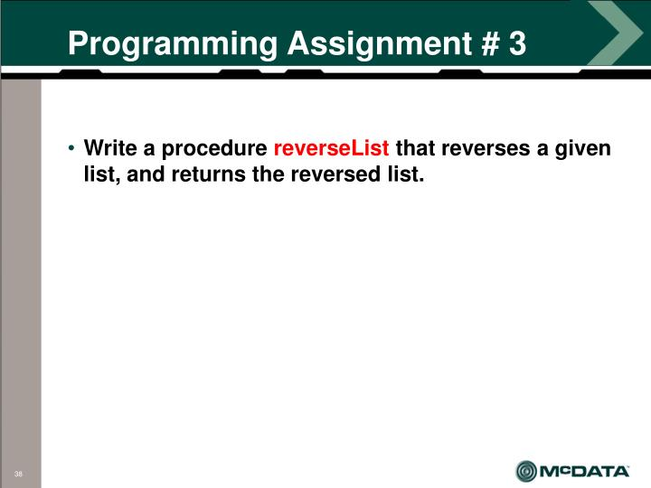 Programming Assignment # 3
