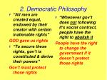 2 democratic philosophy