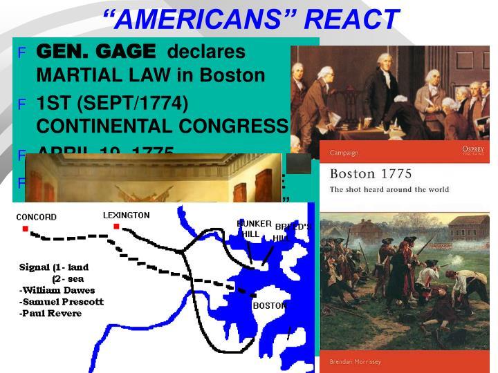 """AMERICANS"" REACT"