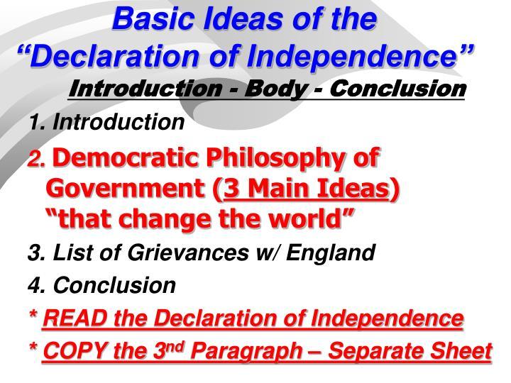 Basic Ideas of the