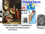 britain sends troops taxes