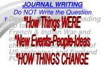 journal writing do not write the question1