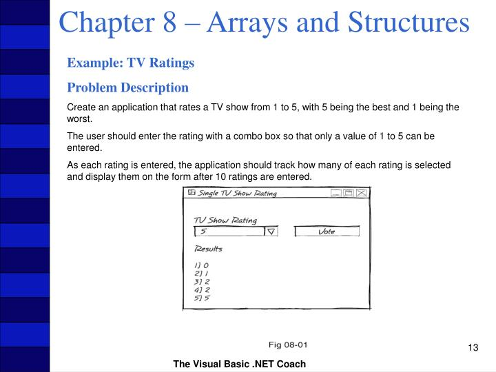 Chapter 8 – Arrays and Structures