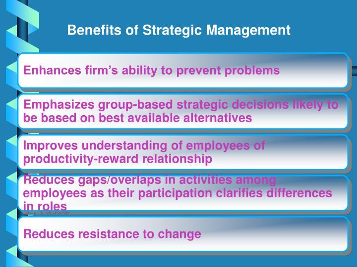 Benefits of Strategic Management