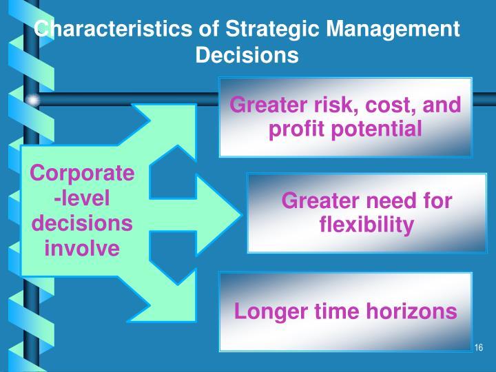 Corporate -level decisions involve