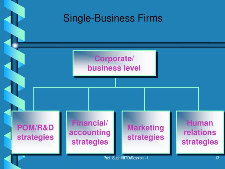Single-Business Firms