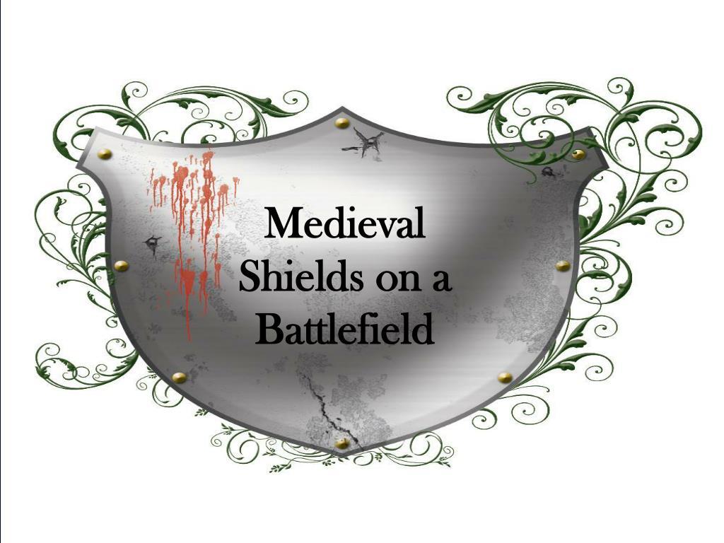 Medieval Shields on a Battlefield