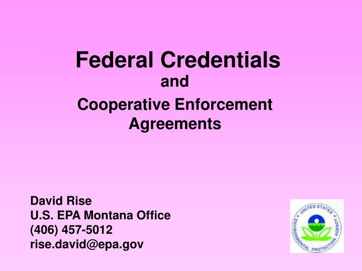 Federal credentials