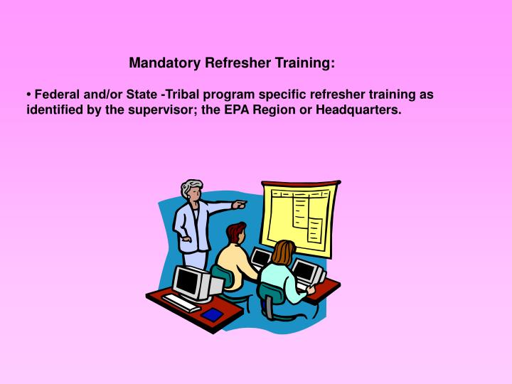 Mandatory Refresher Training: