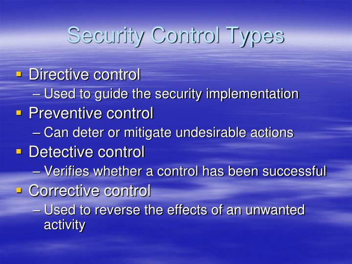Security Control Types
