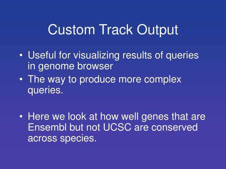 Custom Track Output