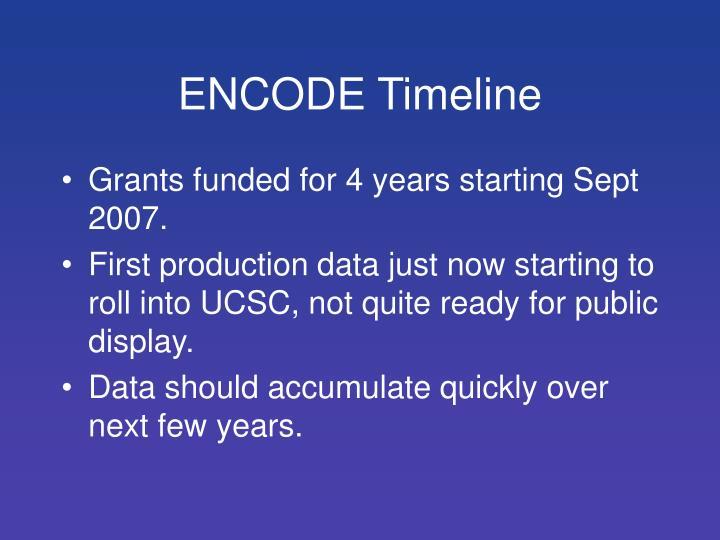 ENCODE Timeline