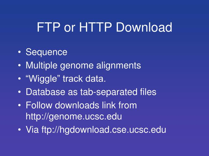 FTP or HTTP Download