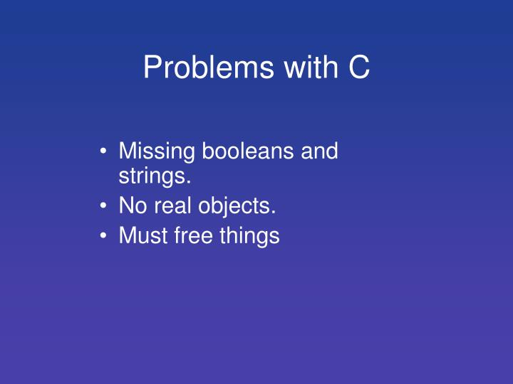 Problems with C