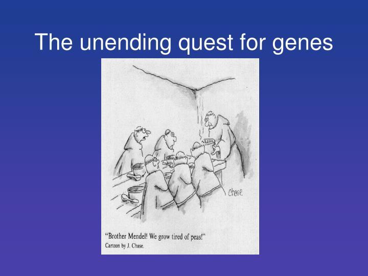 The unending quest for genes