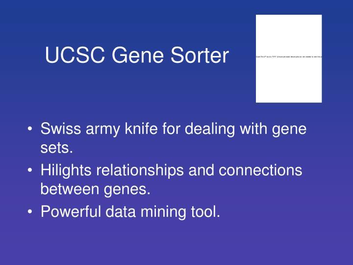UCSC Gene Sorter