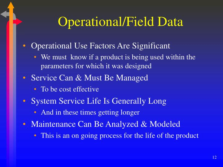 Operational/Field Data