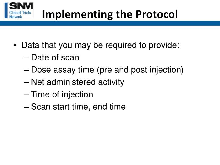 Implementing the Protocol