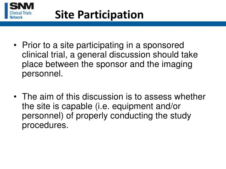 Site Participation