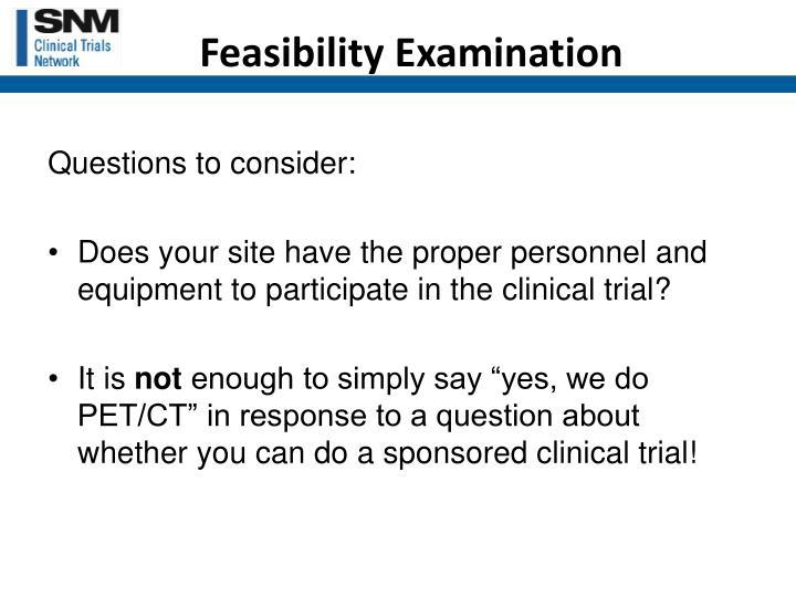 Feasibility Examination