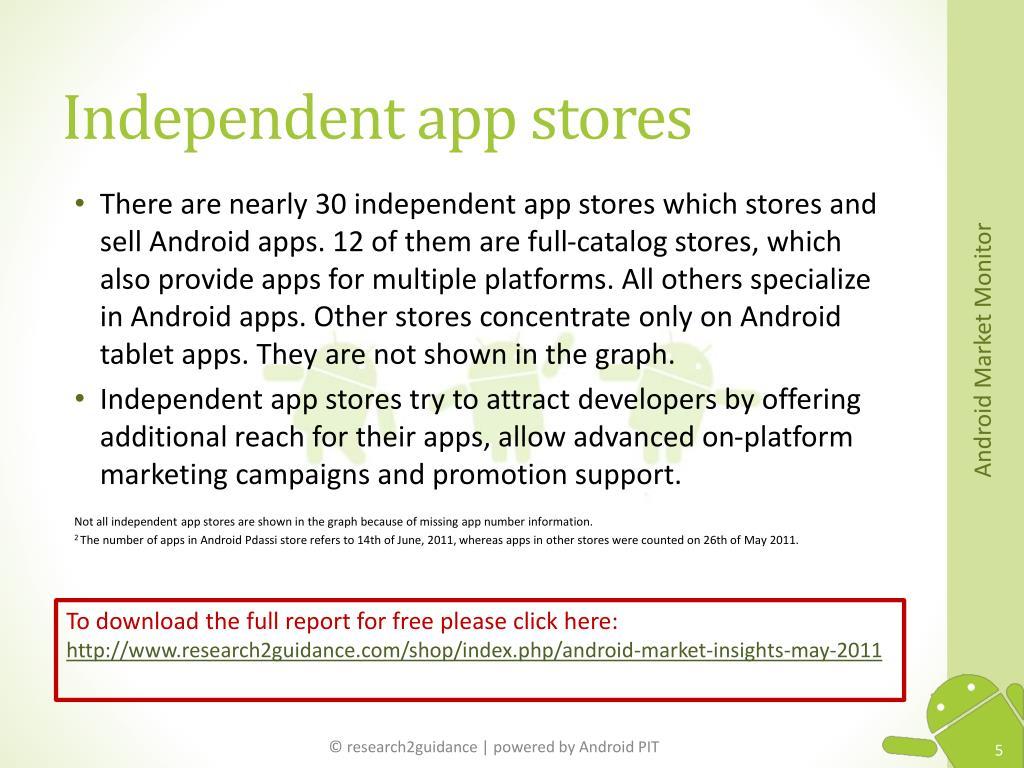 Independent app stores