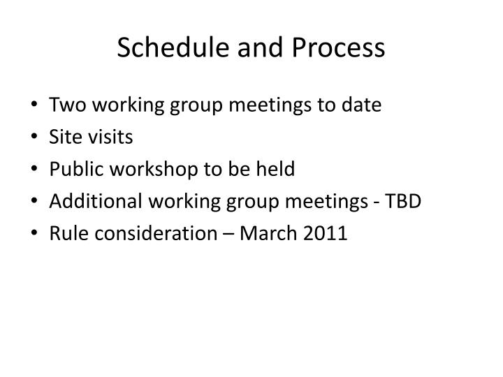 Schedule and Process