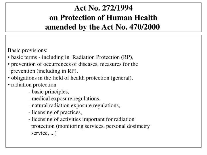 Act No. 272/1994