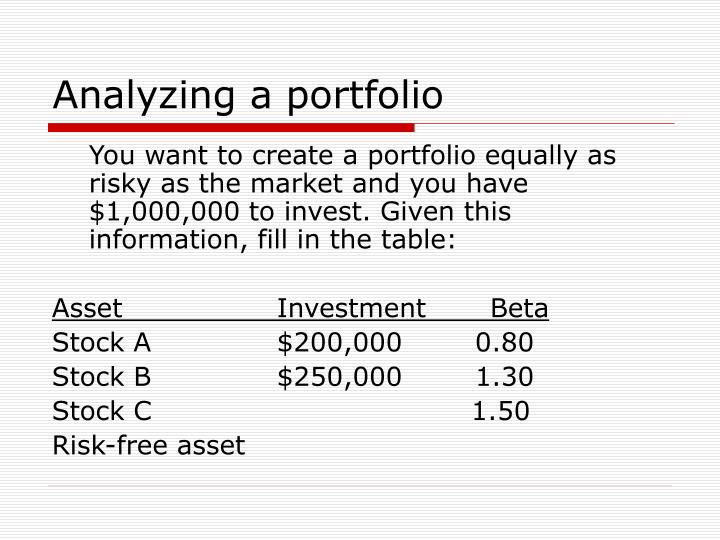 Analyzing a portfolio