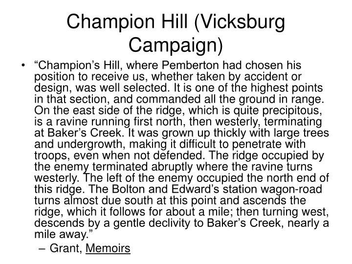Champion Hill (Vicksburg Campaign)