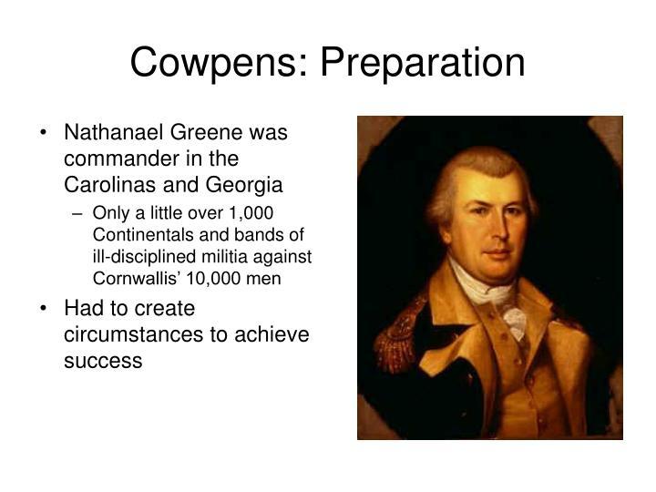 Cowpens: Preparation