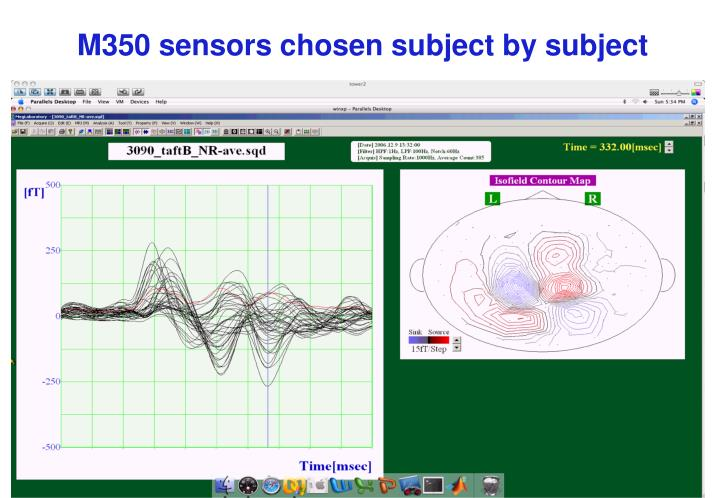 M350 sensors chosen subject by subject