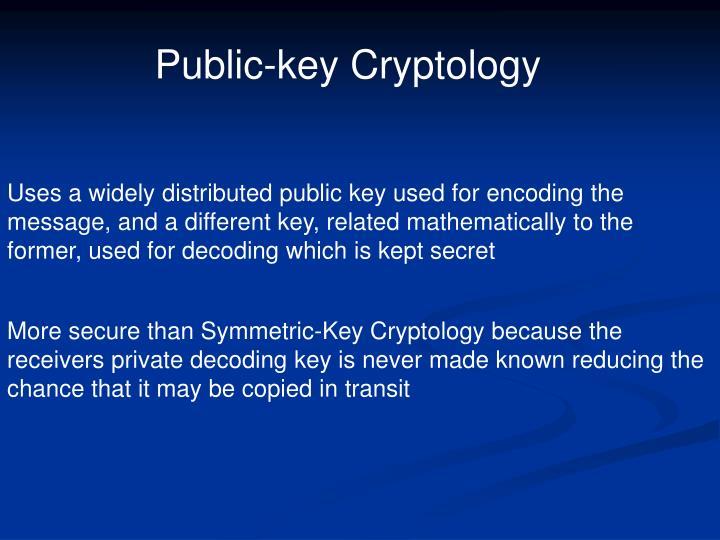 Public-key Cryptology