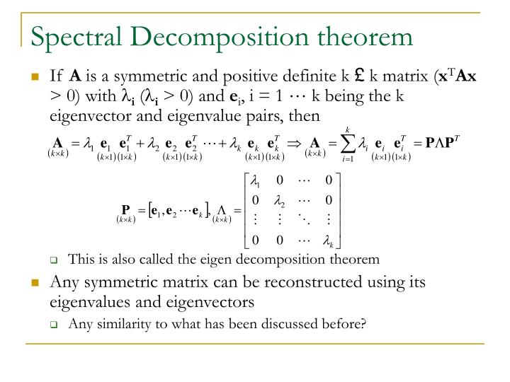 Spectral Decomposition theorem