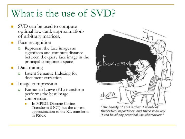 What is the use of SVD?