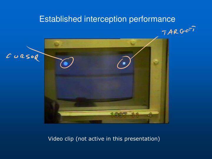 Established interception performance