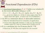 functional dependencies fds