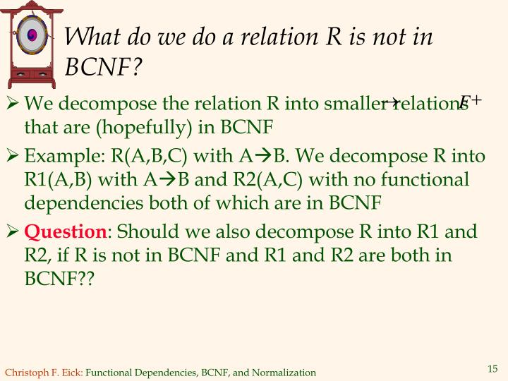 What do we do a relation R is not in