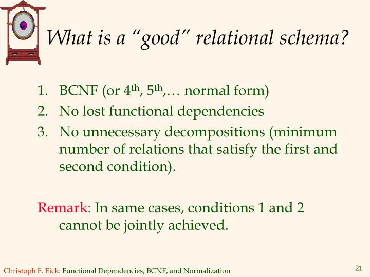 """What is a """"good"""" relational schema?"""