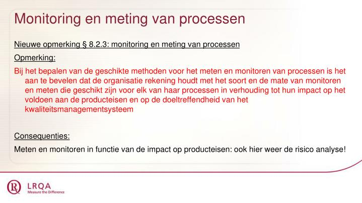 Monitoring en meting van processen