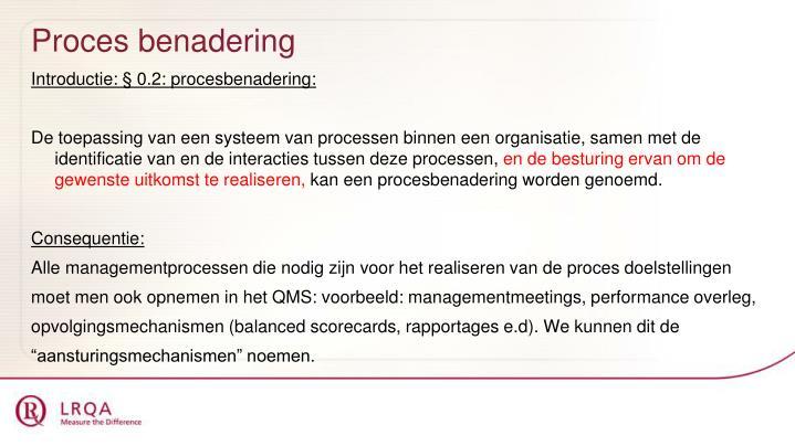 Proces benadering