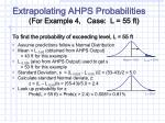 extrapolating ahps probabilities for example 4 case l 55 ft
