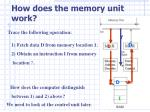 how does the memory unit work1