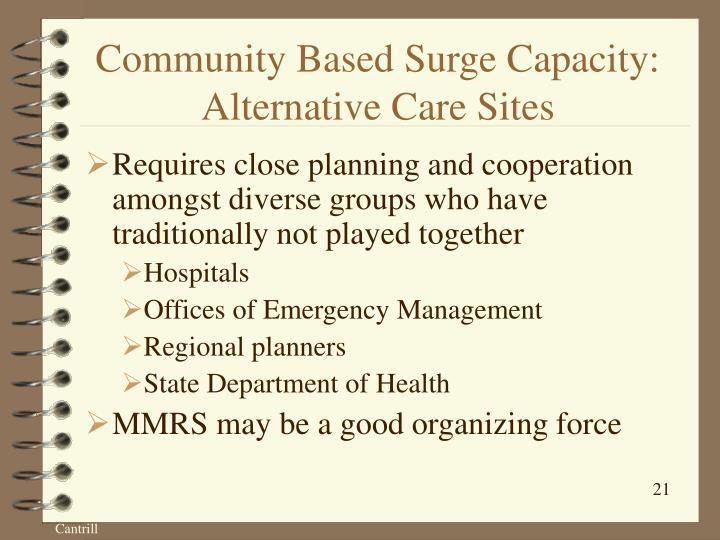 Community Based Surge Capacity: