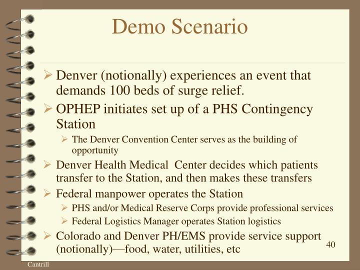 Demo Scenario
