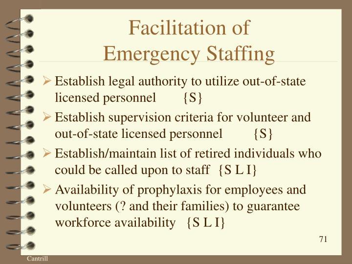Facilitation of