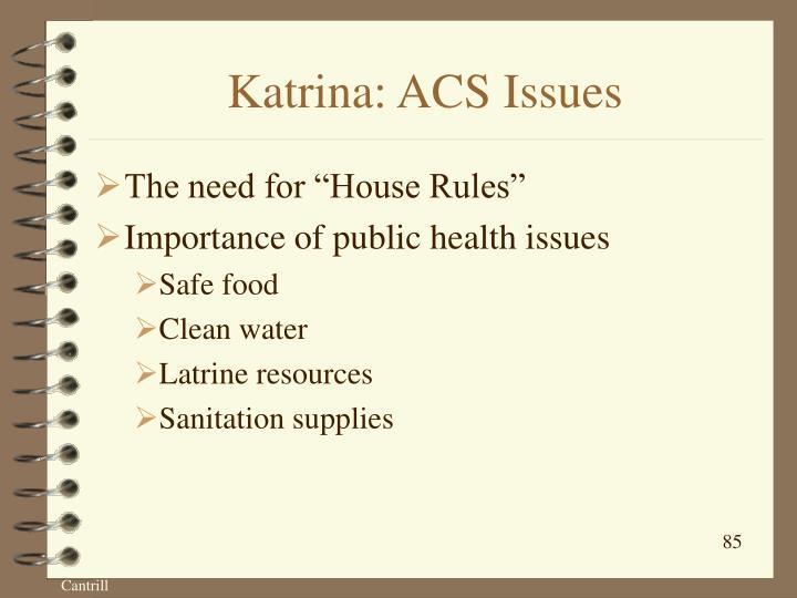 Katrina: ACS Issues